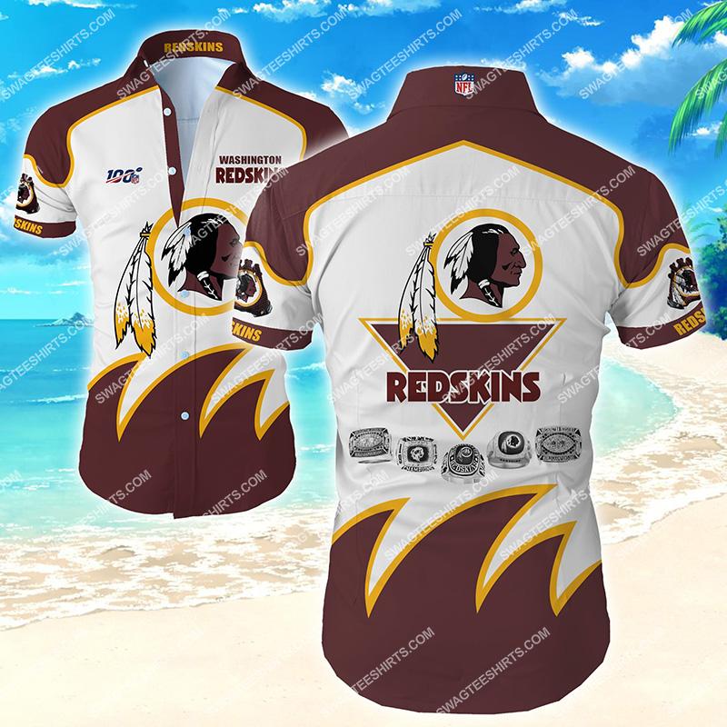 Amazingthe washington redskins team full printing hawaiian shirt
