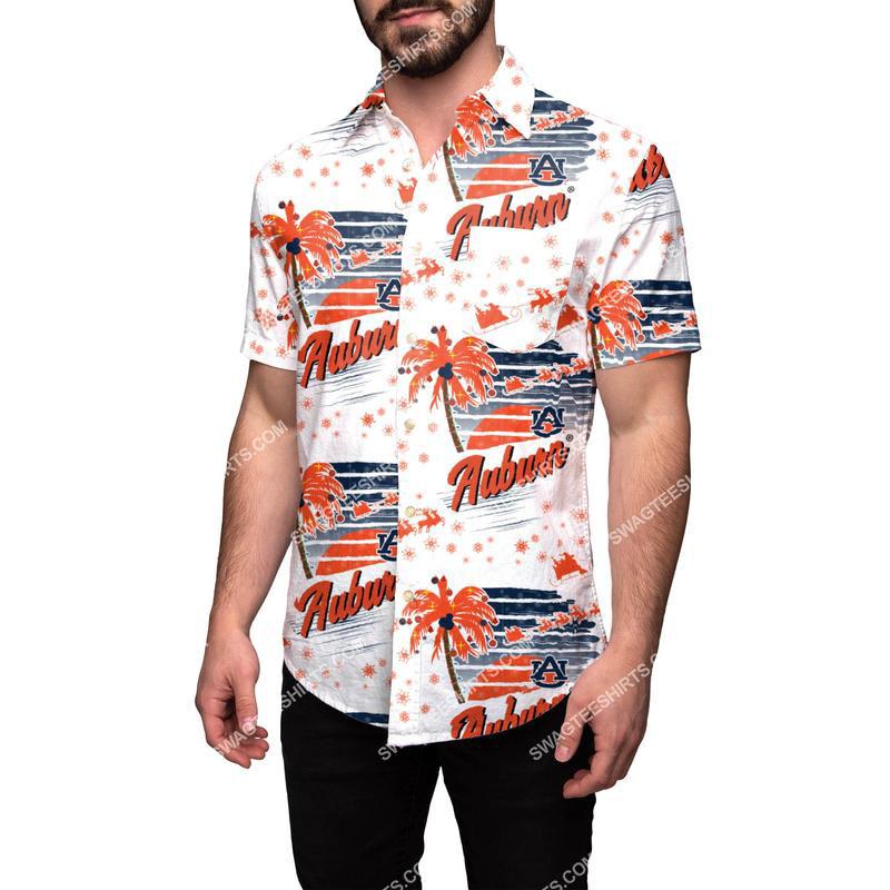 Amazingowndesignshirt] tropical auburn tigers full print hawaiian shirt