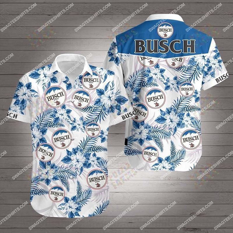 Amazingfullprintingteeshirt] tropical busch beer all over print hawaiian shirt