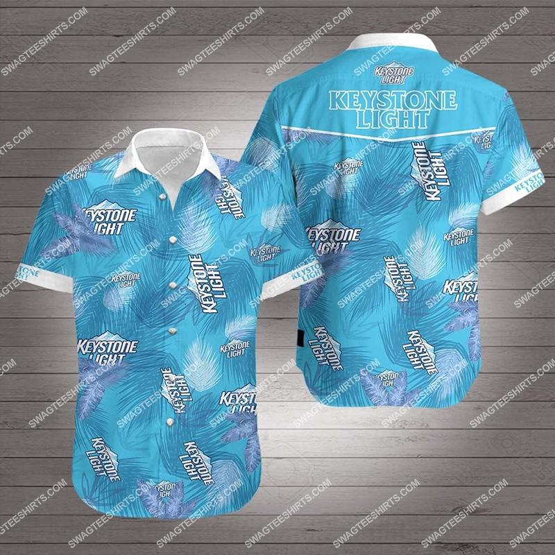 Amazingfullprintingteeshirt] tropical keystone light beer all over print hawaiian shirt