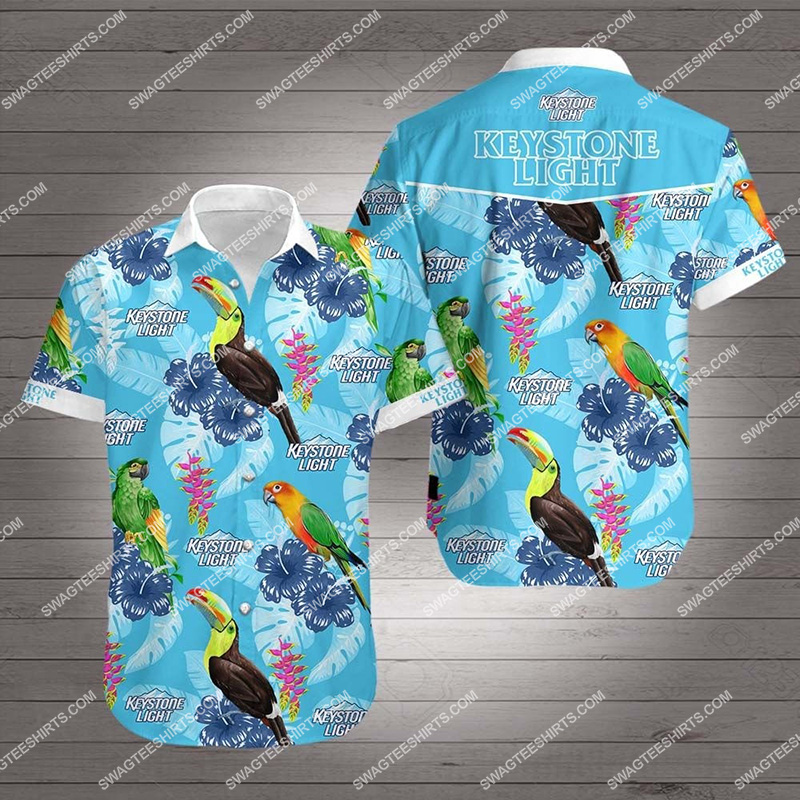 Amazingfullprintingteeshirt] tropical parrot keystone light all over print hawaiian shirt