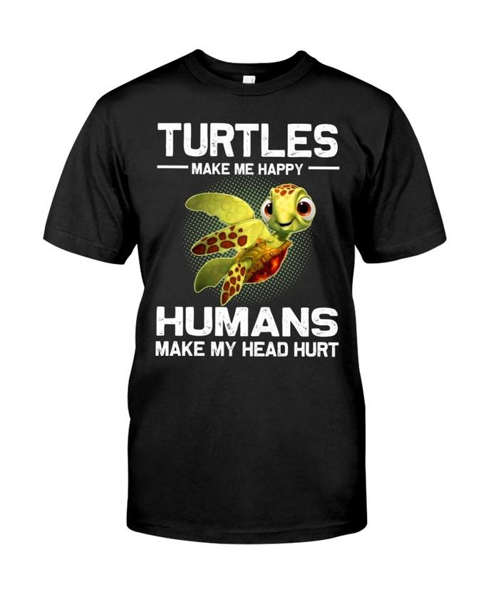 Amazingswagtshirt] turtles make me happy humans make my head hurt shirt