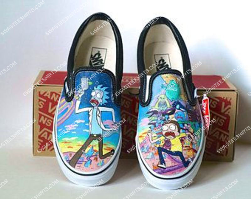 Amazingowndesignshirt] tv show rick and morty slip on shoes