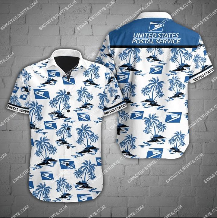Amazingfullprintingteeshirt] united states postal service full printing hawaiian shirt